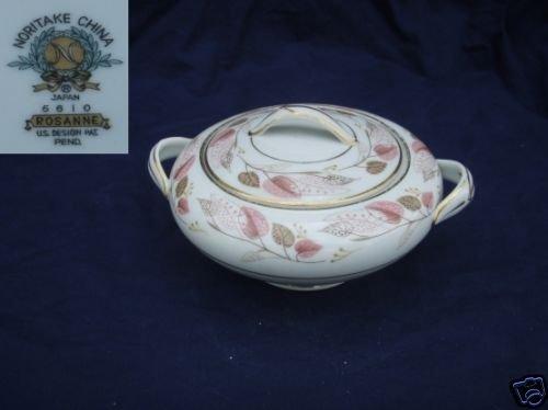 Noritake Rosanne 1 Sugar Dish ( Bowl ) with Lid