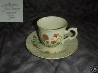 Mikasa Margaux 1 Cup and Saucer Set