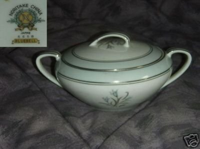 Noritake Bluebell Sugar Dish ( Bowl ) with Lid