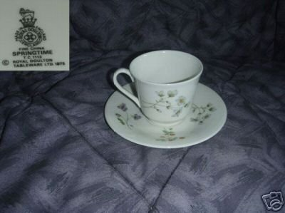 Royal Doulton Springtime 3 Cup and Saucer Sets