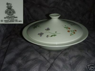 Royal Doulton Springtime Round Covered Vegetable Bowl
