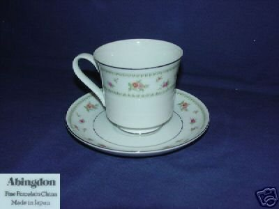 Japan China Abingdon 4 Cup and Saucer Sets