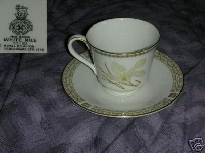 Royal Doulton White Nile 2 Cup and Saucer Set