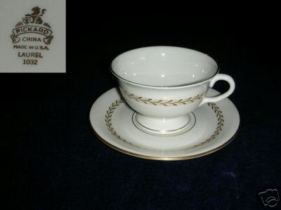 Pickard Laurel 4 Cup and Saucer Sets