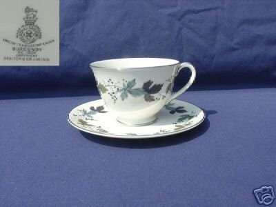 Royal Doulton Burgundy 1 Cup and Saucer Set - MINT