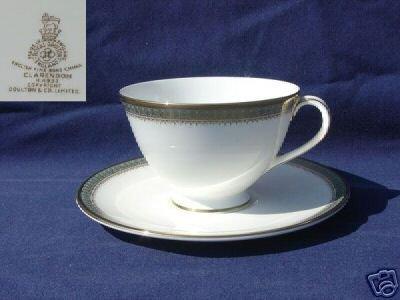 Royal Doulton Clarendon 4 Cup and Saucer Sets - MINT