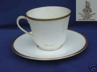 Royal Doulton Delacourt 2 Cup and Saucer Sets MINT