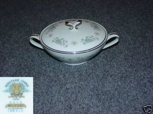 Noritake Wellesley 1 Sugar Dish ( Bowl ) with Lid