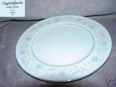 Fine China of Japan English Garden 4 Dinner Plates