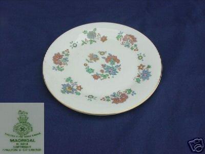 Royal Doulton Madrigal 4 Salad Plates - MINT
