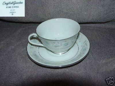 Fine China of Japan English Garden 4 Cup & Saucer Sets