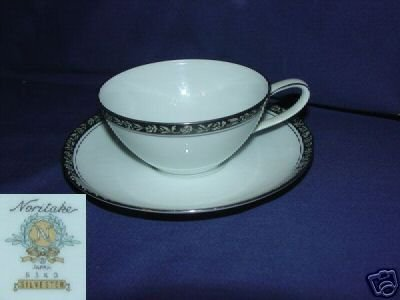 Noritake Silvester 1 Cup and Saucer Set