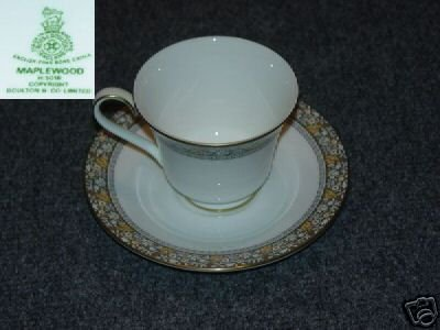 Royal Doulton Maplewood 1 Cup and Saucer Set - MINT