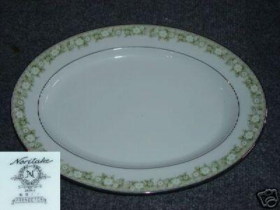 """Noritake Princeton 1 Oval Serving Platter - 13 5/8"""""""