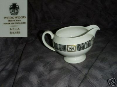 Wedgwood Asia - Black 1 Cream Pitcher ( Creamer )