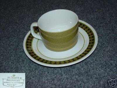 Mikasa Dominique 1 Cup and Saucer Set - MINT