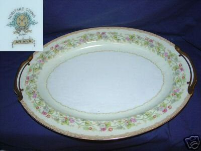 "Noritake Ariana Oval Serving Platter - 16 1/8"""