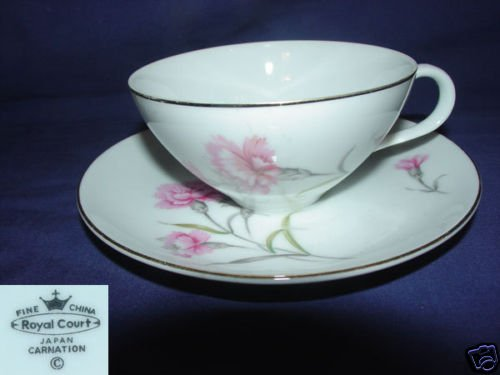 Royal Court Carnation 1 Cup and Saucer Sets