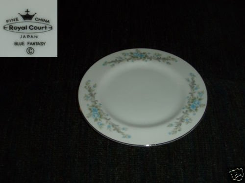 Royal Court Blue Fantasy 7 Bread and Butter Plates