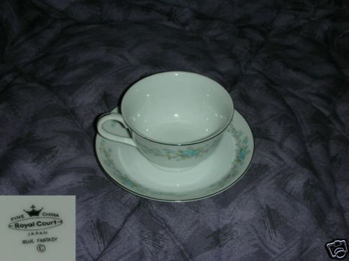 Royal Court Blue Fantasy 5 Cup and Saucer Sets