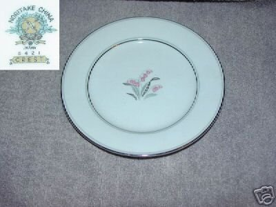 Noritake Crest 4 Bread and Butter Plates