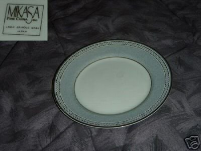 Mikasa Spindle Gray 5 Bread and Butter Plates
