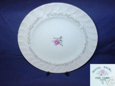 Fine China of Japan Royal Swirl 4 Dinner Plates