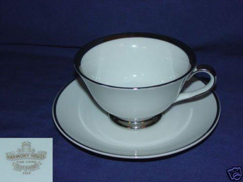 Harmony House / Sears Silver Rhapsody 3 Cup Saucer Sets