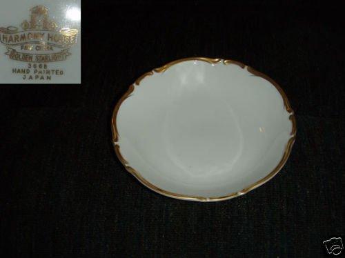 Harmony House / Sears Golden Starlight 4 Soup Bowls