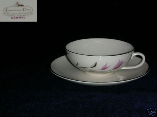 Franciscan Carmel 6 Cup and Saucer Sets