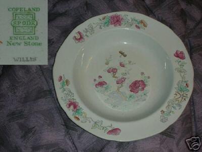 Spode Copeland Willis 2 Rimmed Soup Bowls