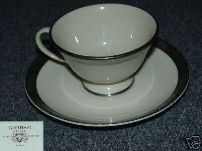 Gorham Rose Tapestry 4 Cup and Saucer Sets - MINT