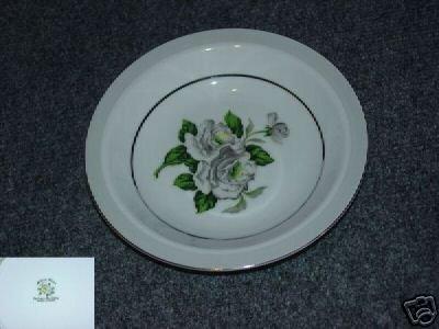 Japan China White Rose ( Platinum ) 4 Soup Bowls