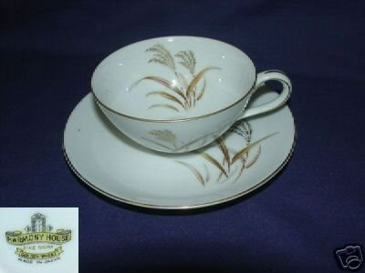 Harmony House Golden Wheat 2 Cup and Saucer Sets