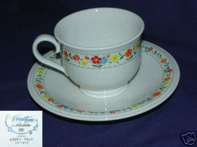 Noritake Happy Talk 1 Cup and Saucer Set