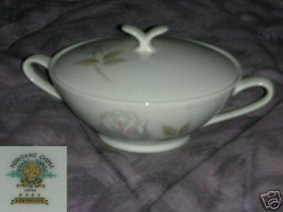 Noritake Edenrose Sugar Dish ( Bowl ) with Lid