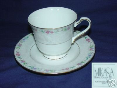 Mikasa Floral Lace 2 Cup and Saucer Sets