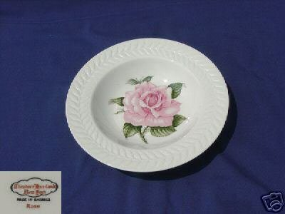 Theodore Haviland New York Rose 4 Rimmed Soup Bowls NEW