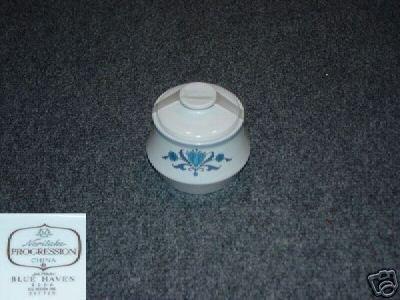 Noritake Blue Haven 1 Sugar Dish ( Bowl ) with Lid