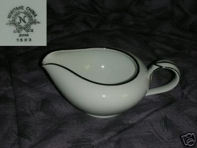 Noritake Pattern 5683 Platinum Trim Cream Pitcher