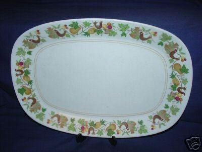 "Noritake Homecoming Oval Serving Platter - 13 1/2"""