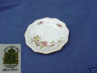 Royal Heidleburg Rosebrier 1 Bread Butter Plate MINT