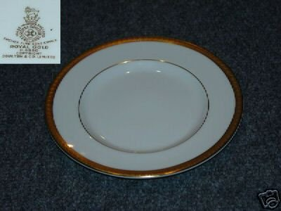 Royal Doulton Royal Gold 1 Bread and Butter Plate  MINT