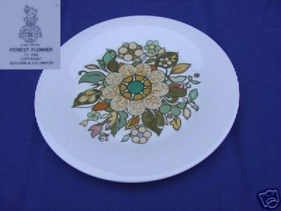 Royal Doulton Forest Flower 4 Dinner Plates - MINT