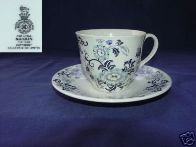 Royal Doulton Nankin 4 Cup and Saucer Sets - MINT