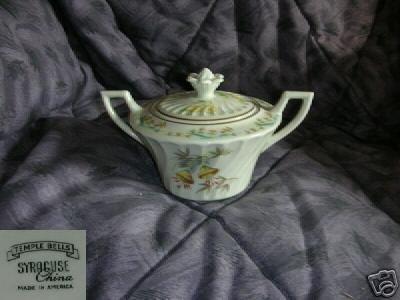Syracuse Temple Bells Sugar Dish ( Bowl ) with Lid