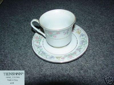 Tienshan Jardin 7 Cup and Saucer Sets