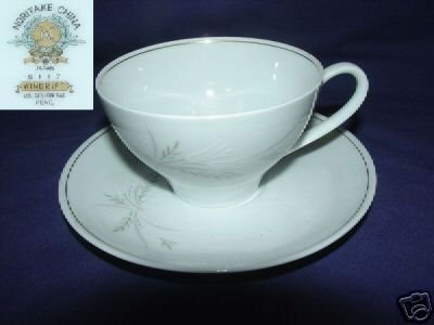Noritake Windrift 6 Cup and Saucer Ses