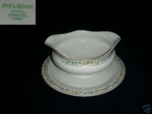 Syracuse Melrose 1 Gravy Boat with Attached Underplate