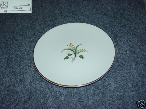 Knowles Forsythia 7 Bread and Butter Plates